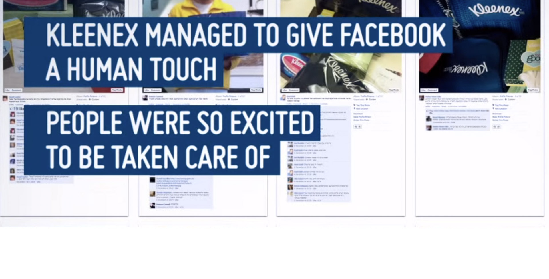 kleenex managed to give facebook a human touch