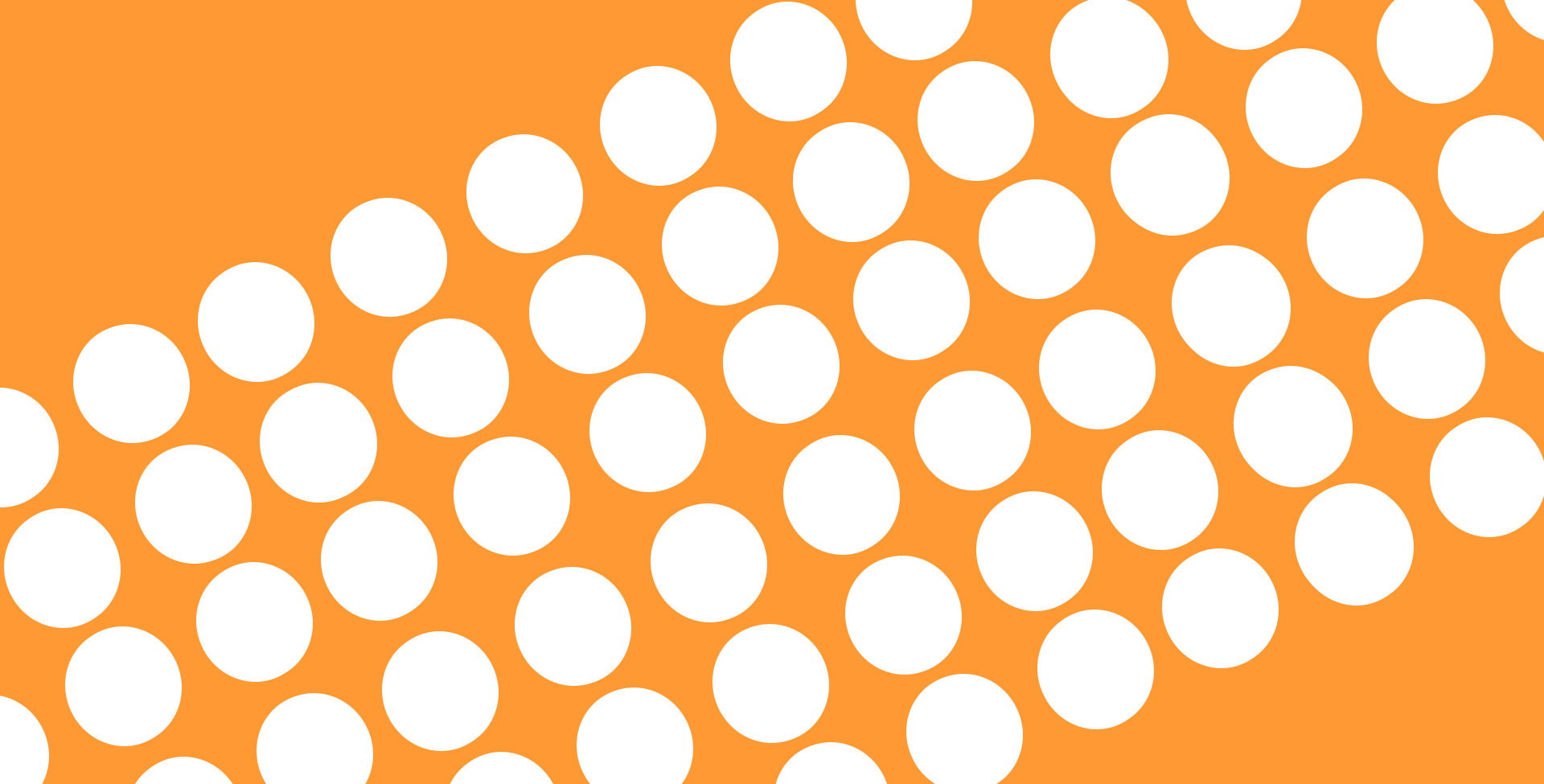 white dots on an orange background