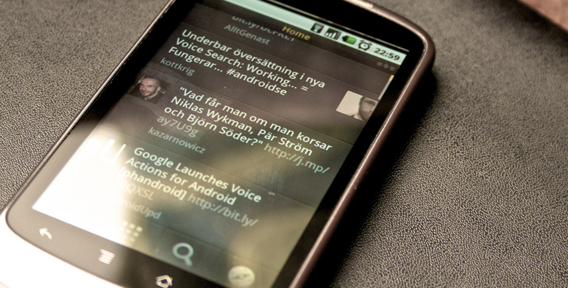 a smartphone with text messages