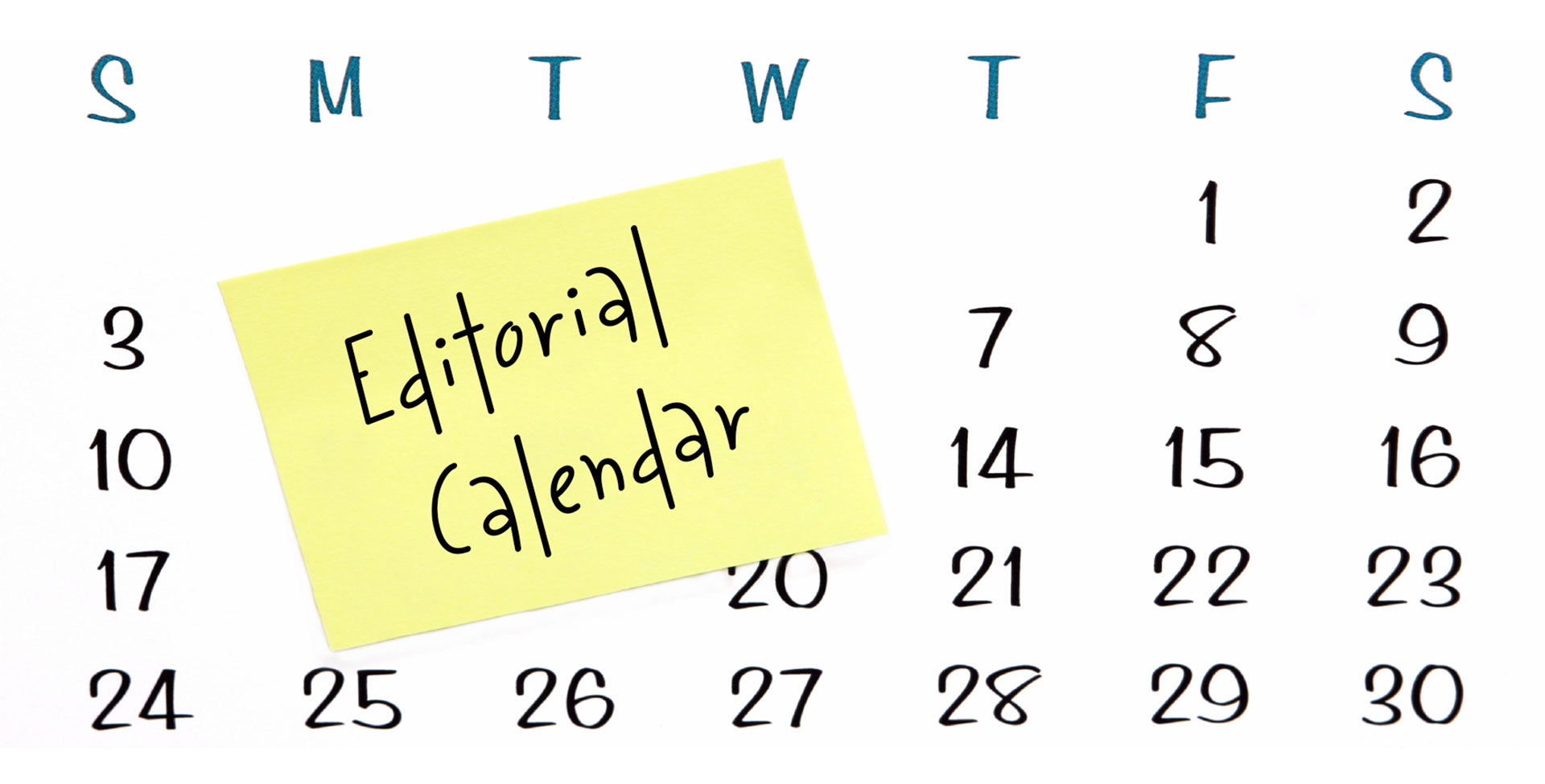 editorial calendar illustration