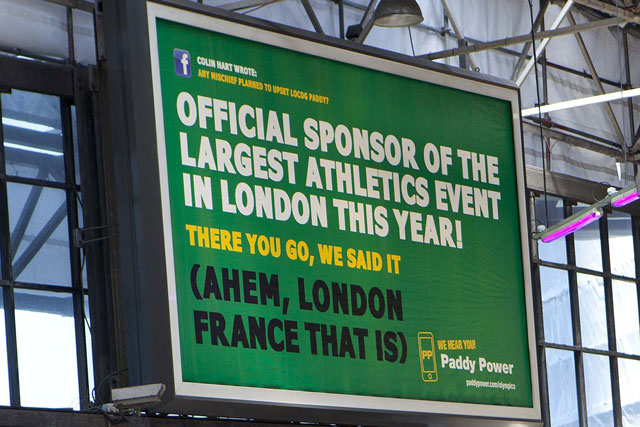 paddy power olympic billboard