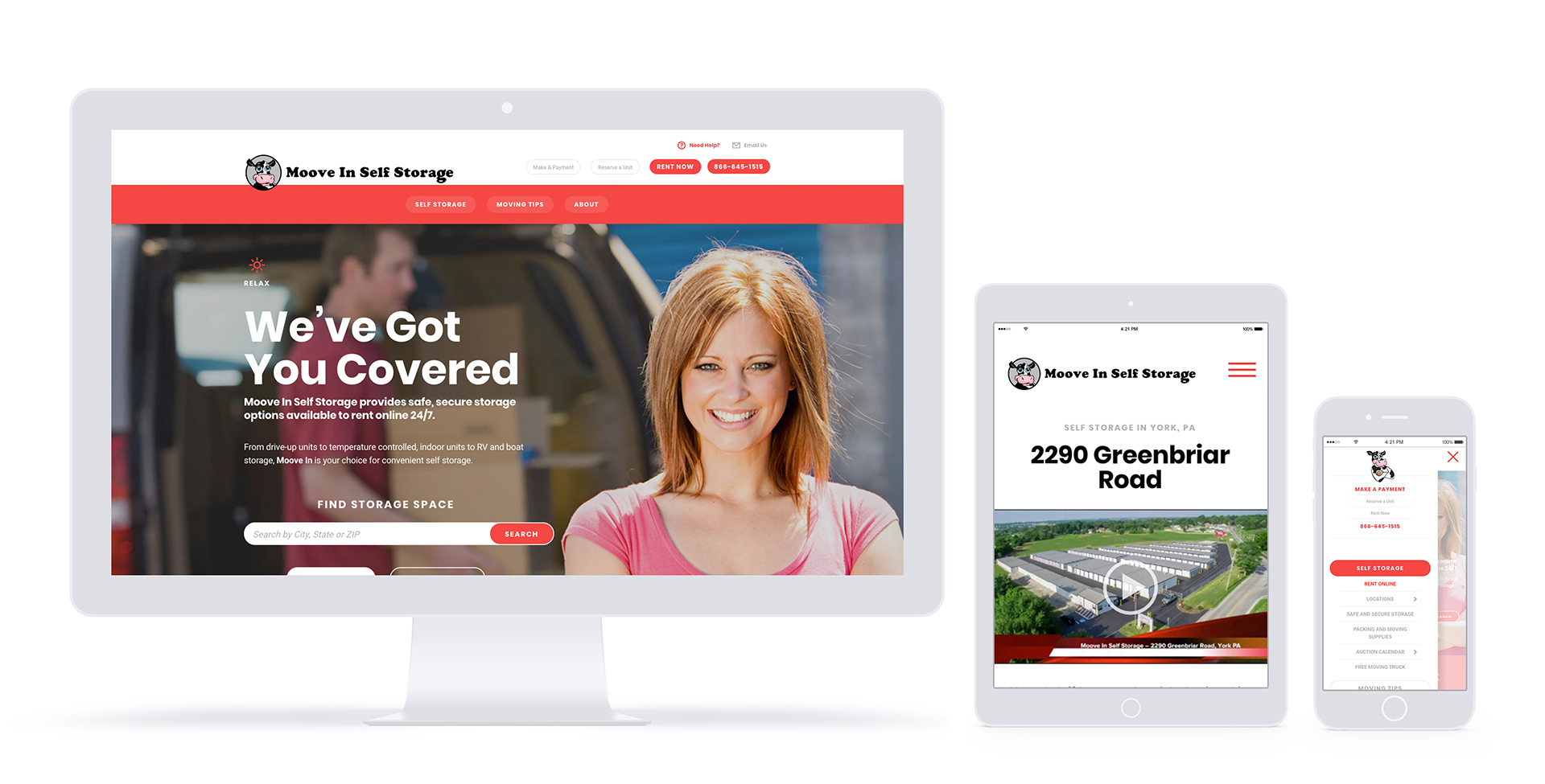 Moove In website redesign